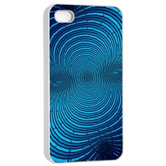Abstract Fractal Blue Background Apple Iphone 4/4s Seamless Case (white)