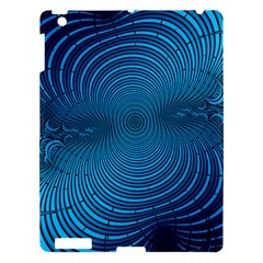 Abstract Fractal Blue Background Apple Ipad 3/4 Hardshell Case
