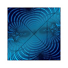 Abstract Fractal Blue Background Acrylic Tangram Puzzle (6  X 6 )