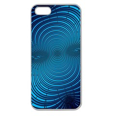 Abstract Fractal Blue Background Apple Seamless Iphone 5 Case (clear)