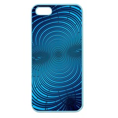 Abstract Fractal Blue Background Apple Seamless Iphone 5 Case (color)