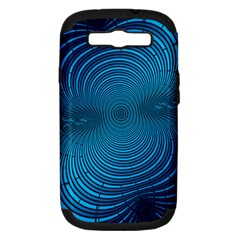 Abstract Fractal Blue Background Samsung Galaxy S Iii Hardshell Case (pc+silicone)