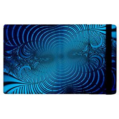 Abstract Fractal Blue Background Apple Ipad 2 Flip Case