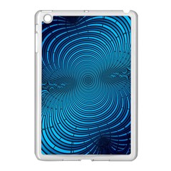 Abstract Fractal Blue Background Apple Ipad Mini Case (white)