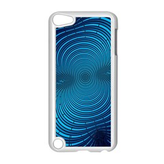 Abstract Fractal Blue Background Apple Ipod Touch 5 Case (white)