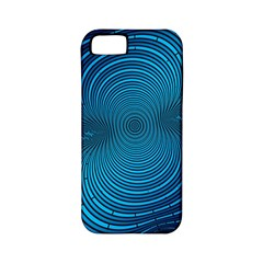 Abstract Fractal Blue Background Apple Iphone 5 Classic Hardshell Case (pc+silicone)