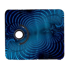 Abstract Fractal Blue Background Galaxy S3 (flip/folio)
