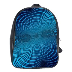 Abstract Fractal Blue Background School Bags (xl)