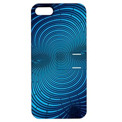 Abstract Fractal Blue Background Apple Iphone 5 Hardshell Case With Stand