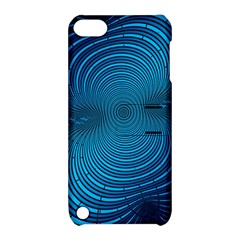 Abstract Fractal Blue Background Apple Ipod Touch 5 Hardshell Case With Stand