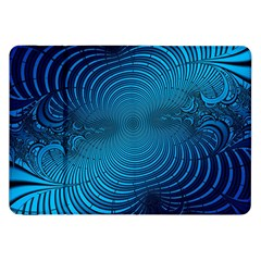 Abstract Fractal Blue Background Samsung Galaxy Tab 8 9  P7300 Flip Case