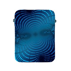 Abstract Fractal Blue Background Apple Ipad 2/3/4 Protective Soft Cases
