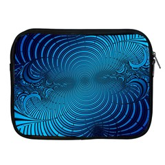 Abstract Fractal Blue Background Apple Ipad 2/3/4 Zipper Cases