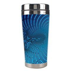 Abstract Fractal Blue Background Stainless Steel Travel Tumblers