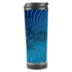 Abstract Fractal Blue Background Travel Tumbler
