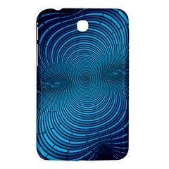 Abstract Fractal Blue Background Samsung Galaxy Tab 3 (7 ) P3200 Hardshell Case