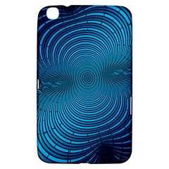 Abstract Fractal Blue Background Samsung Galaxy Tab 3 (8 ) T3100 Hardshell Case
