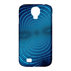 Abstract Fractal Blue Background Samsung Galaxy S4 Classic Hardshell Case (pc+silicone)