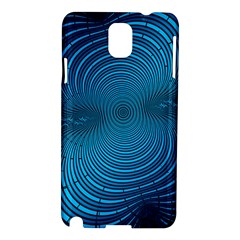 Abstract Fractal Blue Background Samsung Galaxy Note 3 N9005 Hardshell Case