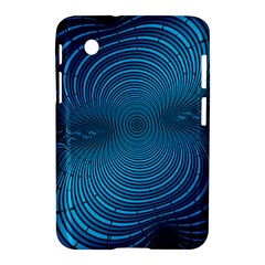 Abstract Fractal Blue Background Samsung Galaxy Tab 2 (7 ) P3100 Hardshell Case