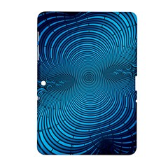 Abstract Fractal Blue Background Samsung Galaxy Tab 2 (10.1 ) P5100 Hardshell Case
