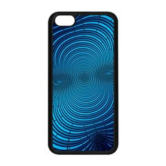 Abstract Fractal Blue Background Apple Iphone 5c Seamless Case (black)