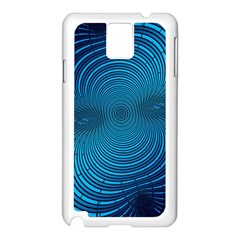 Abstract Fractal Blue Background Samsung Galaxy Note 3 N9005 Case (White)