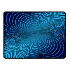 Abstract Fractal Blue Background Double Sided Fleece Blanket (small)