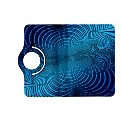 Abstract Fractal Blue Background Kindle Fire Hd (2013) Flip 360 Case
