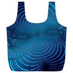 Abstract Fractal Blue Background Full Print Recycle Bags (l)
