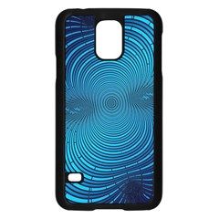 Abstract Fractal Blue Background Samsung Galaxy S5 Case (black)