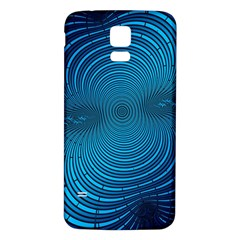 Abstract Fractal Blue Background Samsung Galaxy S5 Back Case (white)