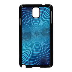Abstract Fractal Blue Background Samsung Galaxy Note 3 Neo Hardshell Case (black)