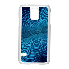 Abstract Fractal Blue Background Samsung Galaxy S5 Case (white)