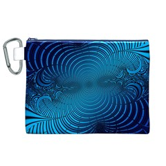 Abstract Fractal Blue Background Canvas Cosmetic Bag (XL)