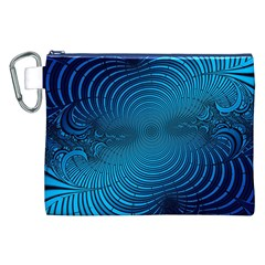 Abstract Fractal Blue Background Canvas Cosmetic Bag (xxl)