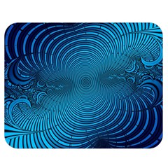 Abstract Fractal Blue Background Double Sided Flano Blanket (medium)