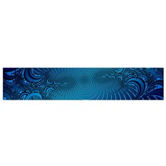 Abstract Fractal Blue Background Flano Scarf (Small)