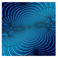 Abstract Fractal Blue Background Large Satin Scarf (square)