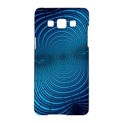 Abstract Fractal Blue Background Samsung Galaxy A5 Hardshell Case