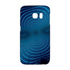 Abstract Fractal Blue Background Galaxy S6 Edge