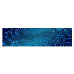 Abstract Fractal Blue Background Satin Scarf (Oblong)