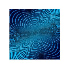 Abstract Fractal Blue Background Small Satin Scarf (Square)