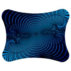 Abstract Fractal Blue Background Jigsaw Puzzle Photo Stand (bow)