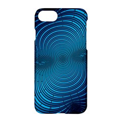 Abstract Fractal Blue Background Apple Iphone 7 Hardshell Case