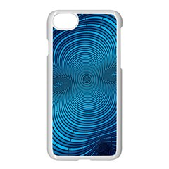 Abstract Fractal Blue Background Apple Iphone 7 Seamless Case (white)