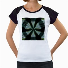 Lines Abstract Background Women s Cap Sleeve T