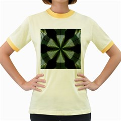 Lines Abstract Background Women s Fitted Ringer T-Shirts