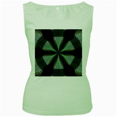 Lines Abstract Background Women s Green Tank Top
