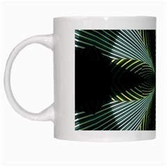 Lines Abstract Background White Mugs